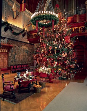 Candlelight Christmas Evenings, offering evening candlelight tours of Biltmore House, ...