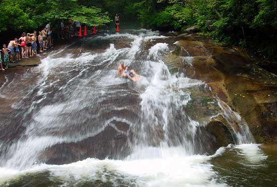 Sliding Rock A Natural Water Slide Asheville Nc