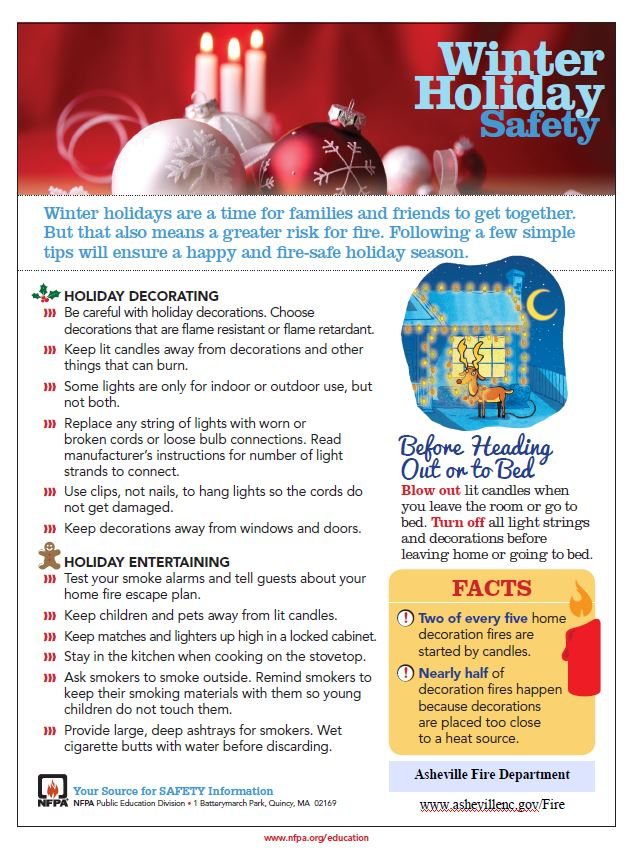 keep fire safety in mind this holiday season
