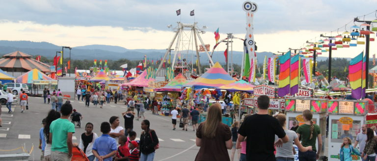 Fairgoers at 2016 N.C. Mountain State Fair