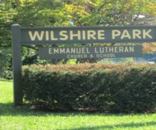Wilshire Park Neighborhood Sign