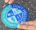 Storm Drain 'Don't Pollute' Sticker