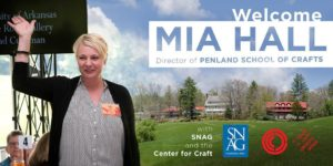 Reception to Welcome Mia Hall @ Center for Craft | Asheville | North Carolina | United States