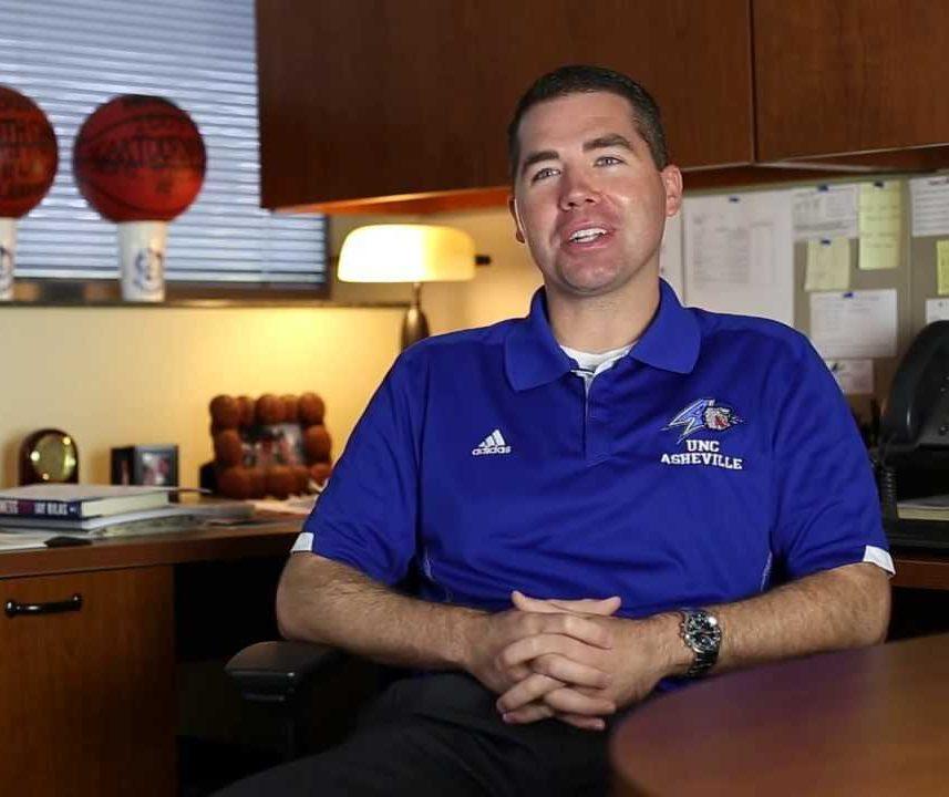 UNC Asheville Men's Basketball Coach Nick McDevitt