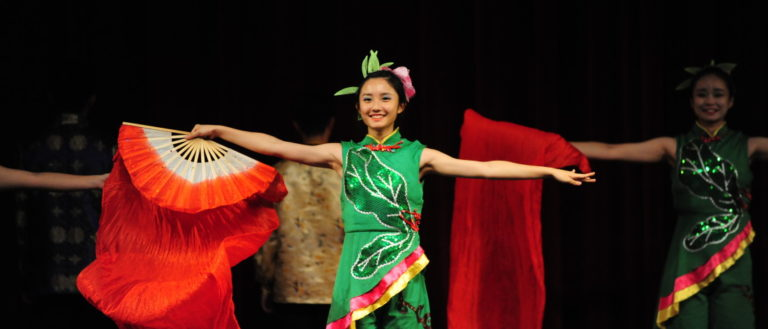 Folkmoot performers celebrate the Lunar New Year.