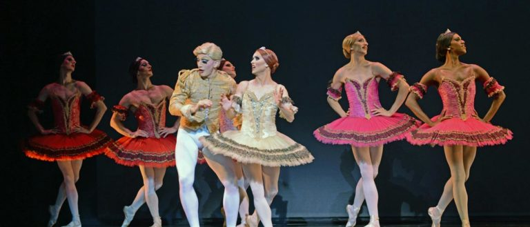 Chase Johnsey and Giovanni Goffredo, as Yekaterina Verbosovich and Sergey Legupski, in Paquita.