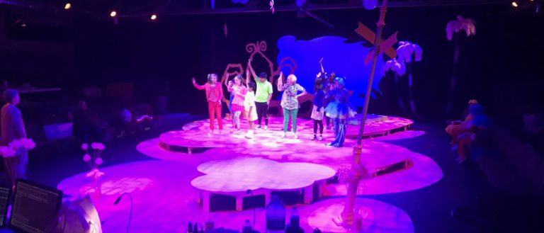 The stage of Seussical The Musical.