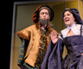 Asheville School actors on stage for a Shakespeare play.