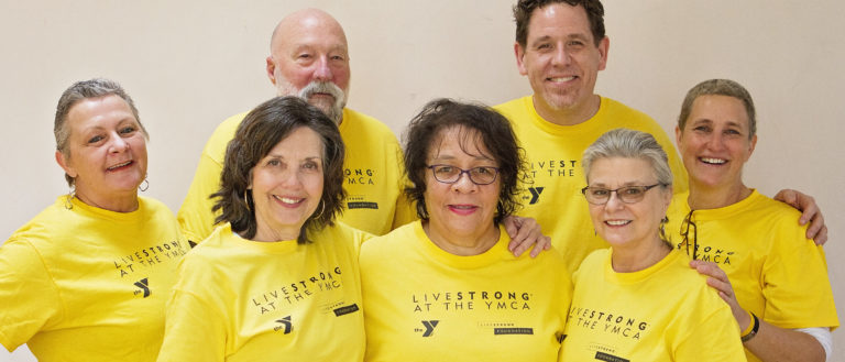 Livestrong members at the YMCA of Western North Carolina.