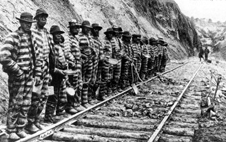 Convict workers on the Swannanoa Tunnel.
